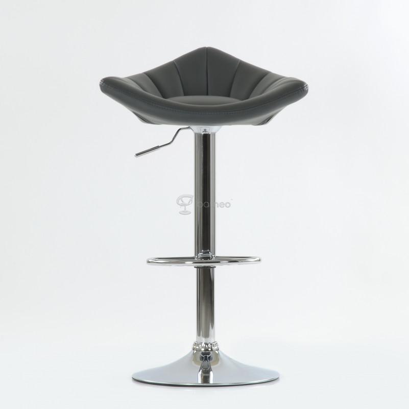 Барный стул Barneo N-44 Дана / Chrome  - PU серая кожа
