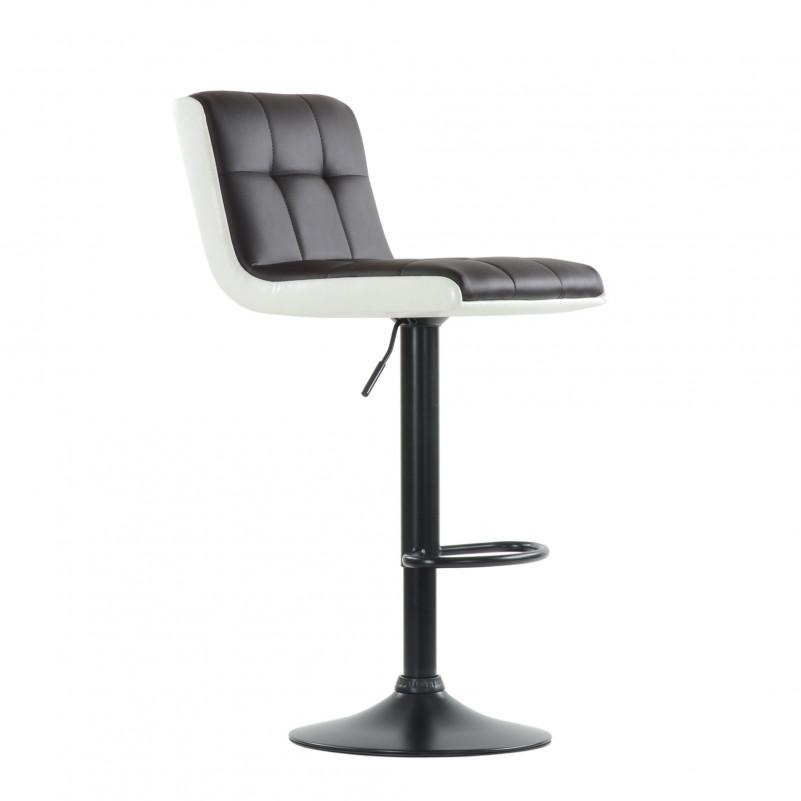 Барный стул Barneo N-45 Soft / Black Vintage - PU темн.коричн-белая кожа