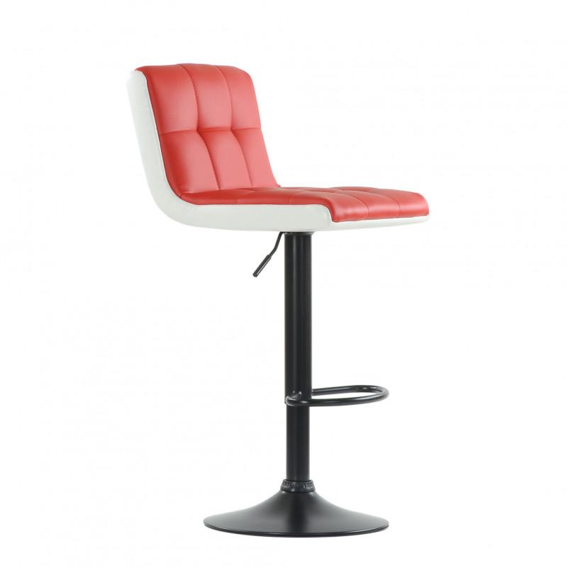Барный стул Barneo N-45 Soft / Chrome - PU красно-белая кожа