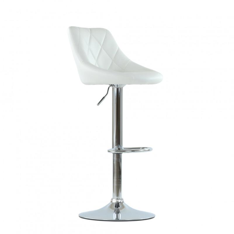 Барный стул Barneo N-83 Comfort (Комфорт) белая кожа