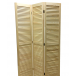 Мини-ширма деревянная жалюзийная без окраски